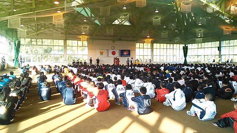 県中学校駅伝大会開会式